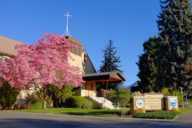 Spring blossoms at the church 2014.